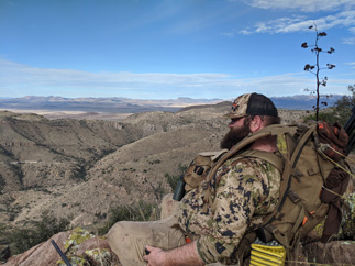 Coues deer hunting mountain top