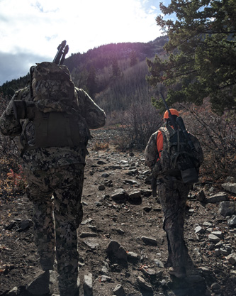 hiking to the high country deer hunting