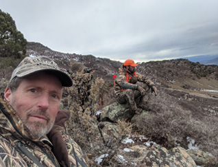 Colorado deer hunt overlooking valley